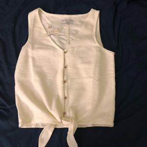 Madewell Texture and Thread Front Tie Tank Top